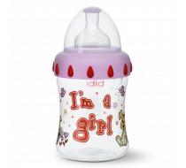 """Бутылочка для кормления, 250 мл, соска 3 в 1 """"I'm a Girl"""""""
