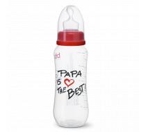 """Бутылочка для кормления, 250 мл, соска ортодонтическая """"Papa is the Best"""""""