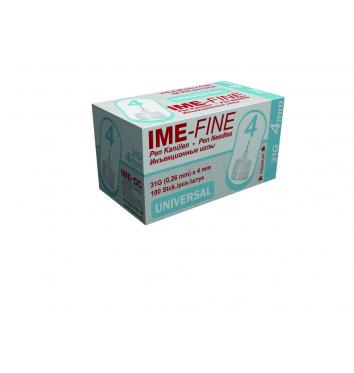 Игла IME-FINE одноразовая стерильная для шприц-ручек 31Gх4.0 мм 100шт купить в интернет-магазине Авимед