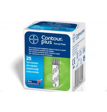Тест-полоски Bayer Contour Plus 25 шт купить в интернет-магазине Авимед