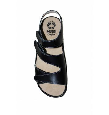 Женские ортопедические босоножки Mubb NAPPA BLACK купить в интернет-магазине Авимед