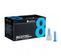 Иглы для инсулиновых шприц-ручек Wellion Medfine plus  0,25 мм (31G) х 8 мм, 100 шт
