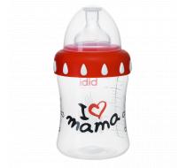 """Бутылочка для кормления, 250 мл, соска 3 в 1 """"I love mama"""""""