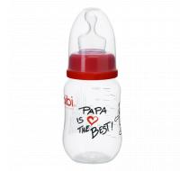 """Бутылочка для кормления, 125 мл ортодонтическая соска """"Papa is the Best"""""""