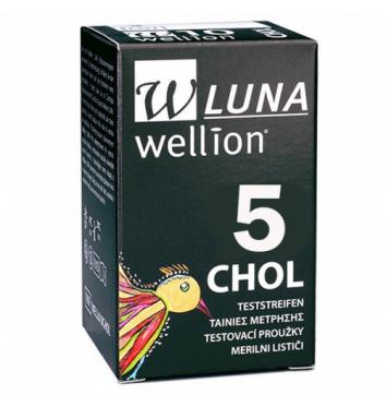 Тест-полоски Wellion Luna холестерин 5 шт купить в интернет-магазине Авимед