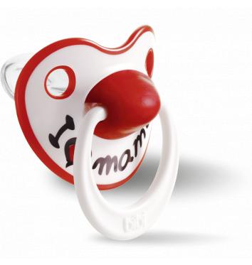 Пустышка Bibi силиконовая, 16+ (L), I love Mama купить в интернет-магазине Авимед