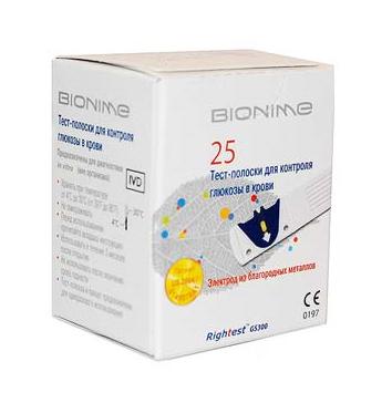 Тест-полоски Bionime Rightest GS300 25 шт купить в интернет-магазине Авимед