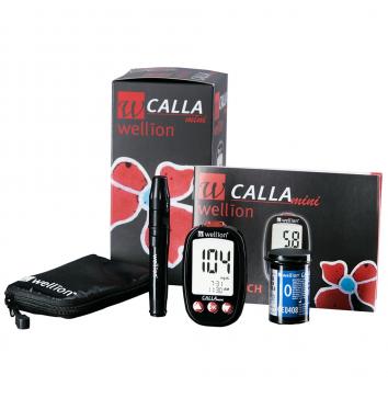Акционный набор Глюкометр Wellion Calla Mini 50 тест-полосок + 50 ланцетов купить в интернет-магазине Авимед