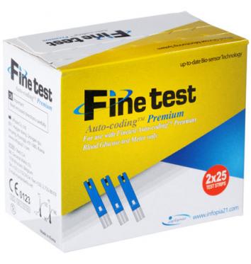Тест-полоски Finetest Auto-Coding Premium 50 шт купить в интернет-магазине Авимед