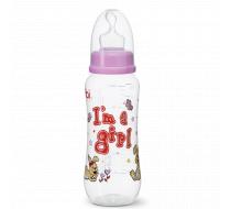 """Бутылочка для кормления, 250 мл, соска ортодонтическая """"I'm a Girl"""""""
