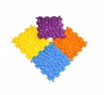 Массажный коврик Цветные камушки мягкий