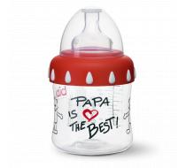 """Бутылочка для кормления, 150 мл, соска 3 в 1 """"Papa is the Best"""""""