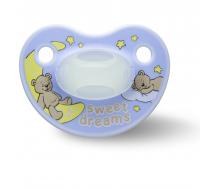 Пустышка Bibi силиконовая, 12-36 міс (L), нічна, Sweet Dreams blue