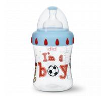 """Бутылочка для кормления, 250 мл, соска 3 в 1 """"I'm a boy"""""""