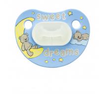 Пустышка Bibi силиконовая, 0-6 мес, ночная, Sweet Dreams Blue
