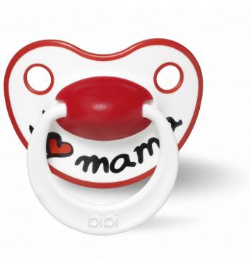 Пустышка Bibi силиконовая, 0-6 мес, (S), I love Mama купить в интернет-магазине Авимед