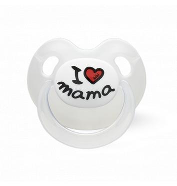 Пустышка Bibi силиконовая, 12-36 міс. (L), I love Mama купить в интернет-магазине Авимед