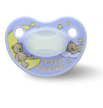 Пустышка Bibi силиконовая, 12-36 міс (L), нічна, Sweet Dreams blue купить в интернет-магазине Авимед