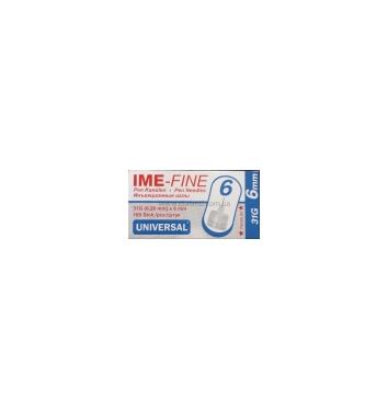 Игла IME-FINE одноразовая стерильная для шприц-ручек 31Gх6.0 мм 100шт купить в интернет-магазине Авимед