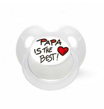 """Пустышка Bibi латексная, 0-12 мес """"Papa is the Best"""" купить в интернет-магазине Авимед"""